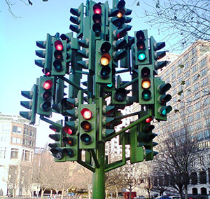 Con este semáforo me quedo toda la vida esperando