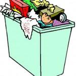 El perezón que da tirar la basura