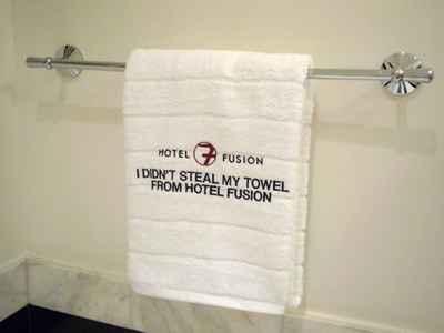 no robe la toalla del hotel