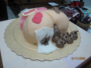 pastel excrementos caca