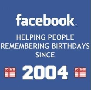 Facebook, ayudando a la gente a recordar cumpleaños desde 2004
