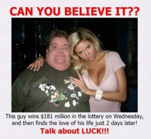 Encuentra el amor de su vida dos días después de que le toque el premio. ¡Eso es suerte!